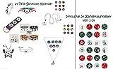 Mädchen Adventskalender Schmuck - 24 Teile inklusive Zahlen