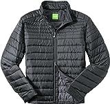 BOSS Green Herren Jacke Jack Modisches Langarmoberteil Uni & Uninah, Größe: 48, Farbe: Schwarz