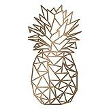 WANDKINGS Wandtattoo - Origami-Style Ananas - 48 x 90 cm - Kupfer - Wähle aus 5 Größen & 35 Farben