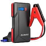 SUAOKI Auto Starthilfe, P6 800A 14595mAh(bis zu 6.0L Gas, 5.0L Dieselmotor) Jump Starter Powerbank mit LED Taschenlampe und Dual USB Ausgänge