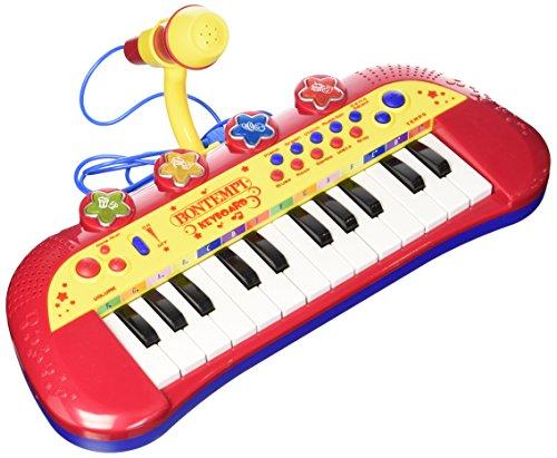 Bontempi 122931Elektronisches Keyboard mit 24 Tasten und Mikrofon