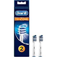 Oral-B Trizone Toothbrush Heads Replacement Refills for Electric Rechargeable Toothbrush, Bristles Sweep In-between Teeth for a Deep Clean, Pack of Two