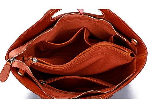 Xinmaoyuan Borse donna borsa donna borsetta Strato di testa di vacchetta retrò personalità spalla monouso borsa messenger in pelle Kaki