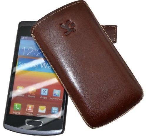 Suncase Tasche für Samsung S8600 Wave 3 Braun