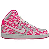 Nike - Son OF Force Mid Print GS - Farbe: Grau-Rosa-Weiß - Größe: 36.5