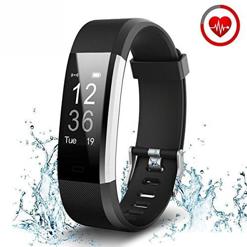 Tauchen Uhren Herren (Herzfrequenz Fitness Tracker, zkcreation Wasserdicht IP67Armbanduhr Schrittzähler Smart Armband mit Herz Rate Monitor, Entfernung, Kalorien, schlafen Monitor, Smart Benachrichtigung für Android und IOS)