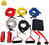 WEINAS Resistance Bands Set - 5 Premium Exercise Bands with Door Anchor/Ankle Straps/Workout Guide for Fitness Workouts Rehabilitation and Strength Training