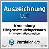 Kronenburg Hängematte Mehrpersonen 210 x 150 cm, Belastbarkeit bis 300 kg - 2