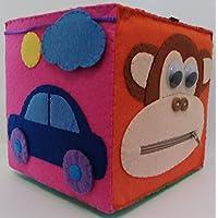 Cubo de Actividades 15x15 MODELO B, Juguete para niños, Juguete sensorial, Activity Cube, Hub, Vida práctica, Juego divertido, Juguete Educativo