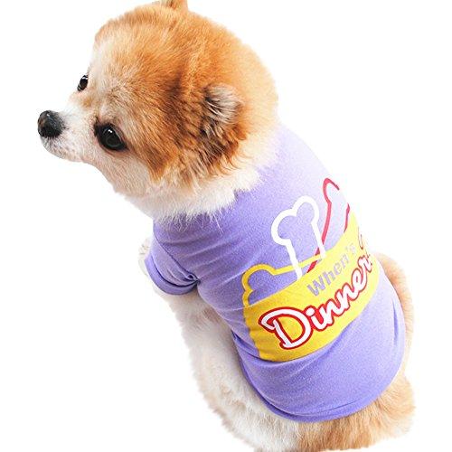 Robemon Kleiner Hund Kleidung,Frühling Und Sommer Baumwolle Chic, Weich Hundebekleidung T-Shirt Kurzarm Puppy Kostüm Hündchen Hund Kleidung - Hund Puppy T-shirts T-shirts