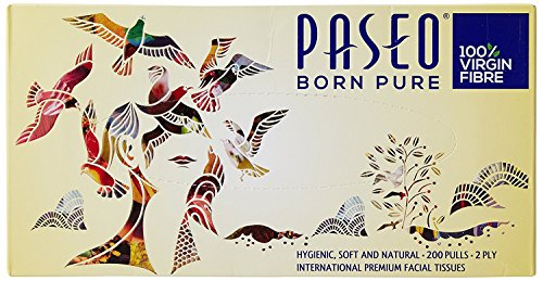 Paseo Born pure 200 Pulls - 2 ply facial tissue (2)  available at amazon for Rs.250