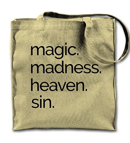 Magic Madness Heaven Sin Religion Cool Natürliche Leinwand Tote Tragetasche, Tuch Einkaufen Umhängetasche