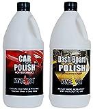 #3: KANGAROO CAR Polish 1 Litre + Dashboard Polish 1 Litre + 4 Foam APPLICATORS