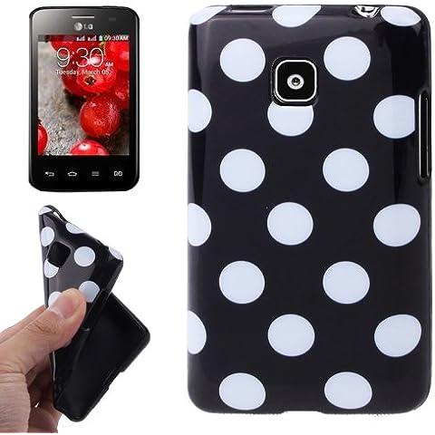 Black and White Dot Pattern Funda TPU Case Funda Para LG Optimus L3 II E340