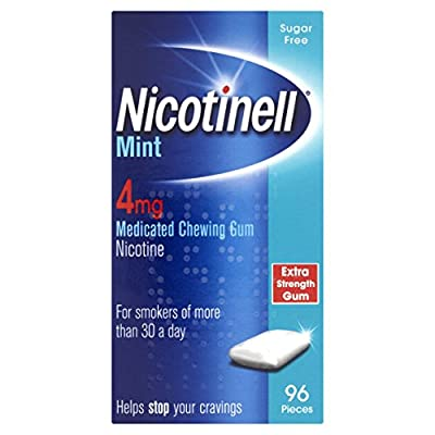 Nicotinell Mint 4 mg Nicotine Medicated Chewing Gum, 96 Pieces by Nicotinell