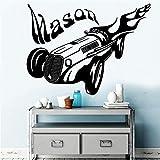 HNXDP 3d Personnalisé Mason Autocollant Vinyle Étanche Sticker Mural Pour Les Chambres Des Enfants Décor Autocollant Mural Rouge XL 57 cm X 77 cm...