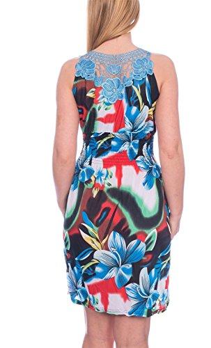 Martildo - Robe -  Femme Bleu Bleu moyen Blau Tropisch