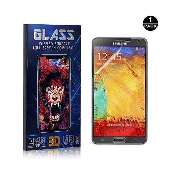 Bear Village® Protector de Pantalla Galaxy Note 3, 9H Cristal Templado, Anti-Golpe, Transparente Protector de Pantalla… 1