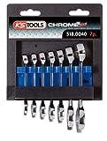 KS Tools 518.0040 Chrome Plus Ringmaulschlüssel-Satz, extra kurz, 7-teilig, 10-19 mm