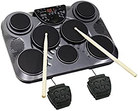 Ashton EDP450 Electronic Drum Pad, with Adaptor, Black