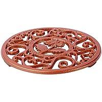 Pad Tetera de regalo multifuncional, herramienta de mesa redonda de cocina suministros de hierro fundido Trivet Tamaño libre marrón
