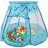 Peradix Children's Play Tent Portable Ball Game House Gifts for 1-8 Years Old Children (Not Included Balls)