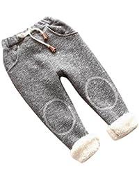 Ularma Enfants Bébé Filles Garçons Coton Jambières de bas Pantalons en lin épais et Chauds