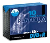Platinum DVD+R 4,7 GB DVD-Rohlinge (16x Speed) 10er Pack Slimcase