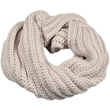 zolimx Bufanda de las mujeres, Círculo invierno cálida bufanda de lana de punto