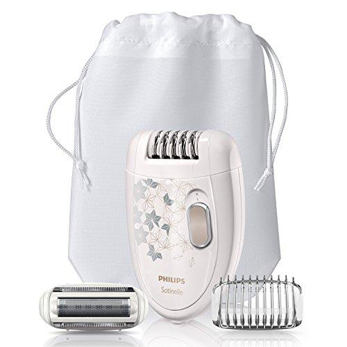 Philips HP6423/00 Satinelle - Depiladora eléctrica (incluye cabezal de afeitado y recorte)