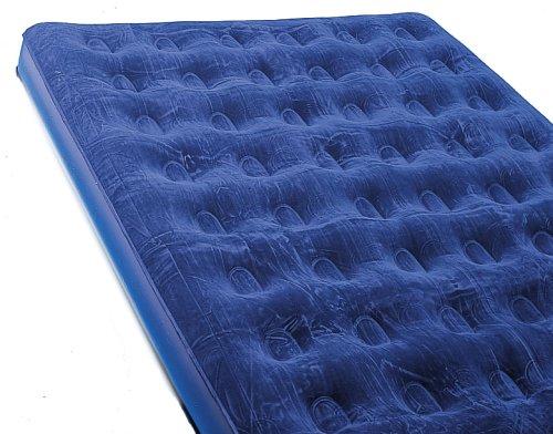 Wehncke Campingartikel Velours Luftbett Royal Blue 185 x 134 cm, 78 003