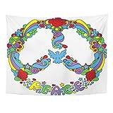 Soefipok Tapiz Mandala Signo de la decoración del hogar símbolo de Paz Poder...