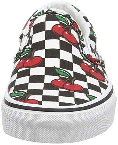 Vans - Classic Slip-on, Scarpe da Ginnastica Basse Unisex da Adulto Nero (Cherry Checkers - Black/True White)