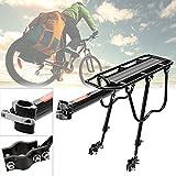 Befied Fahrrad Gepäckträger Set aus Aluminiumlegierung Hinten Sattelstützgepäckträger Rack Set für 24-33 Zoll Fahrrad Mountainbike Schwarz