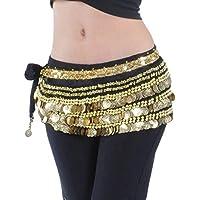 YuanDian Donna Monete plus ventre Peso ballo Catena Vita sciarpa dell'anca di Costume National Danza Hip signora Scarf Skirt