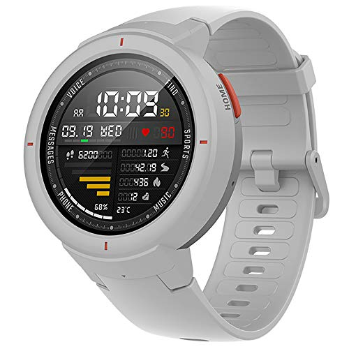 Montre intelligente IP68 Étanche AMOLED Écran Réponse Appel Levée De La Main Paiement GPS Sport Fitness Tracker Fréquence Cardiaque Moniteur De Sommeil,Gray