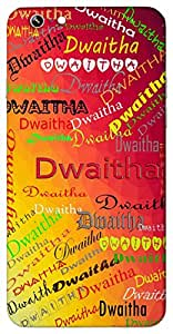 Dwaitha (Disciplined, strong, stable,) Name & Sign Printed All over customize & Personalized!! Protective back cover for your Smart Phone : Moto G3 ( 3rd Gen )