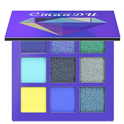 BHYDRY Cosmetic Matte Eyeshadow Cream Makeup Palette Shimmer Set 9 Farben ()