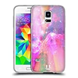 Head Case Designs Pink Und Magenta Galaxie Pastell Soft Gel Hülle für Samsung Galaxy S5 Mini