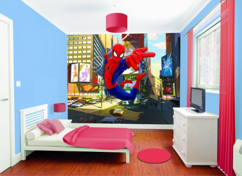 Walltastic 8 x 10 ft Ultimate Spiderman Wallpaper Mural