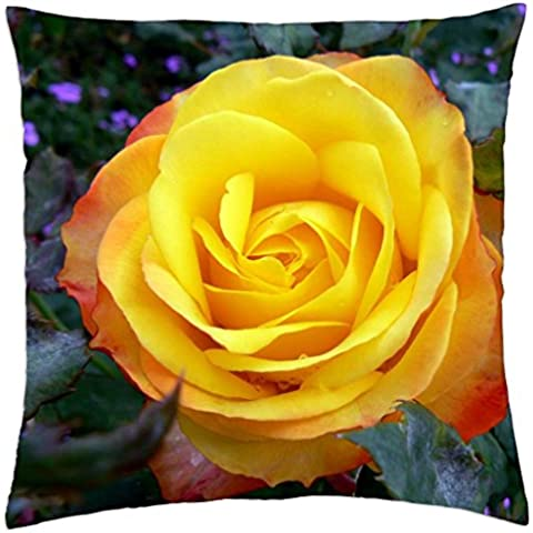 Tequila Sunrise Rose - Throw Pillow Cover Case (18