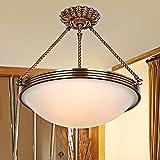 GZLOFT Lampadario a soffitto lampadari Europeo di rame tutti lampade e apparecchi di illuminazione villaggio americano minimalista,40*40cm