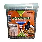 Nourriture pour Rongeurs, Nourriture pour Tous Rongeurs - 3kg - Délicieuses Nourriture Complète pour les Lapins Domestiques, Cochon D'Inde et Hamster