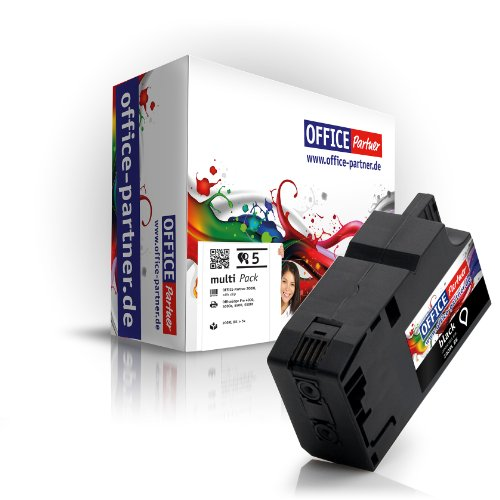5x schwarz XL kompatible Druckerpatronen für Lexmark OfficeEdge Pro 4000 / Pro 4000c & OfficeEdge Pro 5500 / Pro 5500t