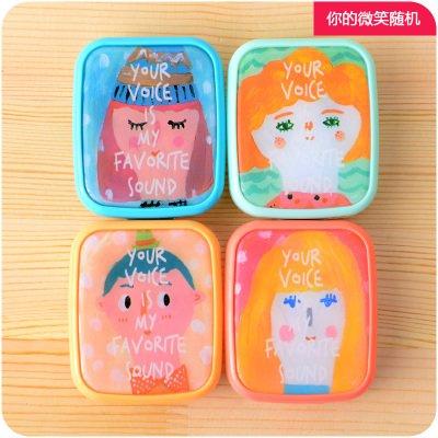 ShouYu Retro schöne Kontaktlinsen Etui portable t United Hitomi Patrone B098 Creative minimalistischen Studenten United Hitomi, Sie Lächeln nach dem Zufallsprinzip