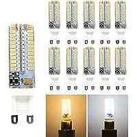 hibay G95W LED Spot bombillas luces de Silicon AC 220–240V Blanco Frío 6000–6500K, No Regulable equivalente 40W 360grados 16x 59mm Pack de 10unidades