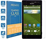 PREMYO Panzerglas Schutzglas Bildschirmschutzfolie Folie kompatibel für Sony Xperia M2 Aqua Blasenfrei HD-Klar 9H Gegen Kratzer Fingerabdrücke