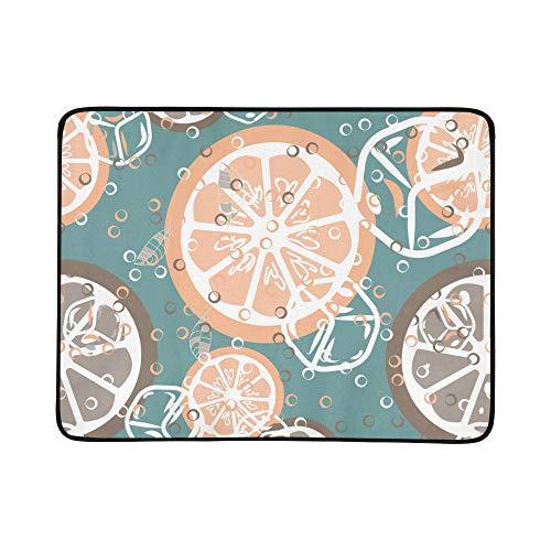 Grapefruit-diät (WYYWCY Frische rosa Grapefruits Muster tragbare und Faltbare Deckenmatte 60x78 Zoll handliche Matte für Camping Picknick Strand Indoor Outdoor Reise)