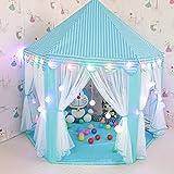 Interlink Kinderzelt Kinder Spielzelt Bällebad Spielhaus Für Kinder Mit Tasche Ohne Bälle (Blau01)