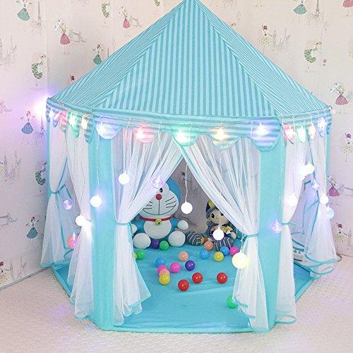 Kinder Spielzelt Bällebad Spielhaus Für Kinder Mit Tasche Ohne Bälle (Blau01) ()